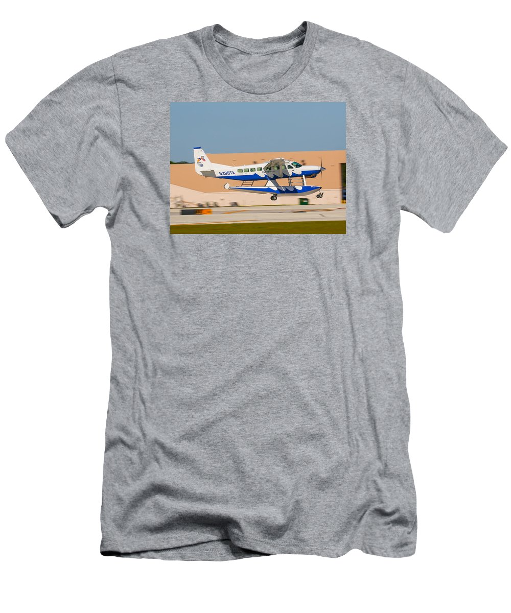 Seaplane Men's T-Shirt (Athletic Fit) featuring the photograph Sea Plane by Dart and Suze Humeston