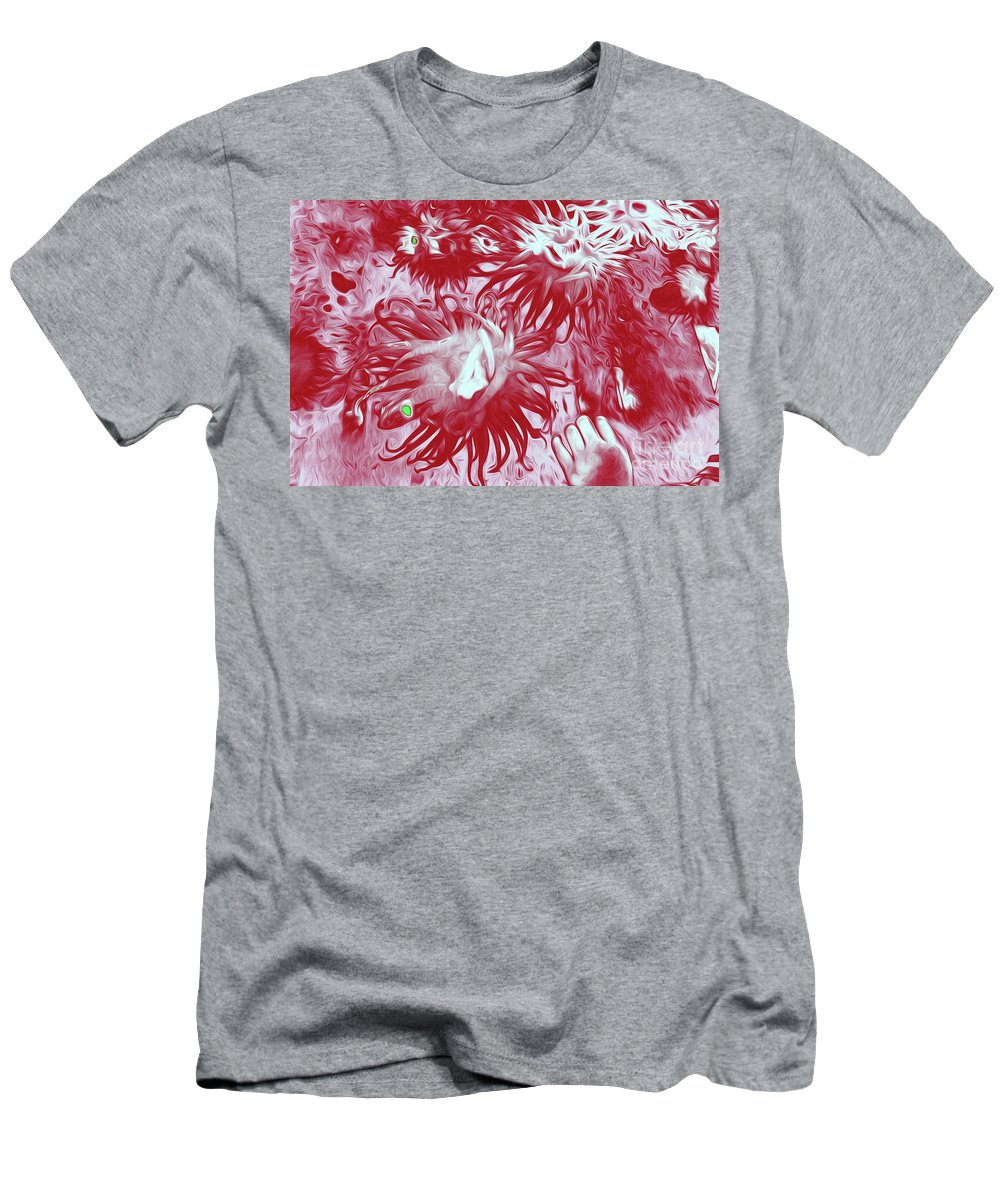 Sea Urchin 7 Men's T-Shirt (Athletic Fit) featuring the digital art Sea Urchin 7 by Chris Taggart