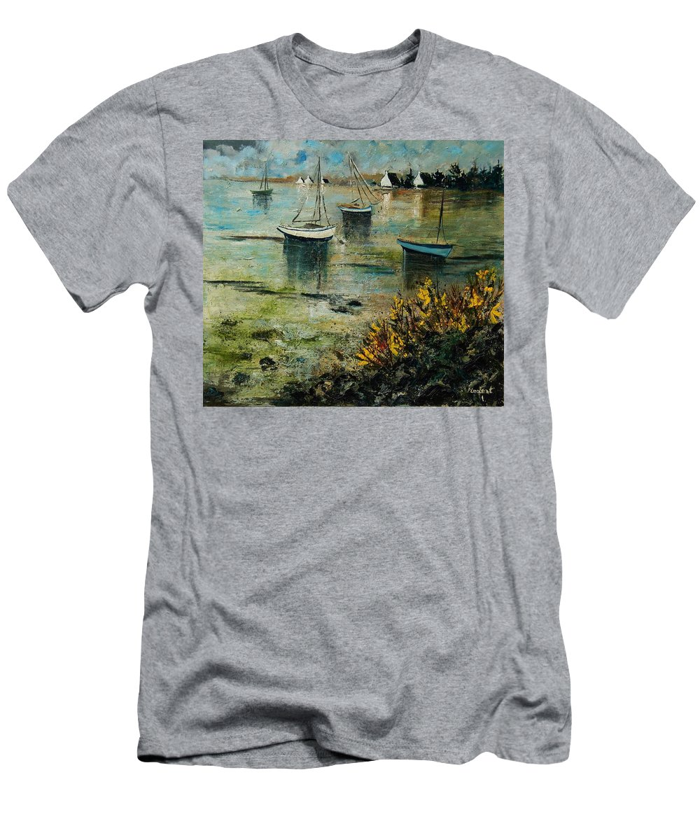 Seascape Men's T-Shirt (Athletic Fit) featuring the print Seascape 78 by Pol Ledent