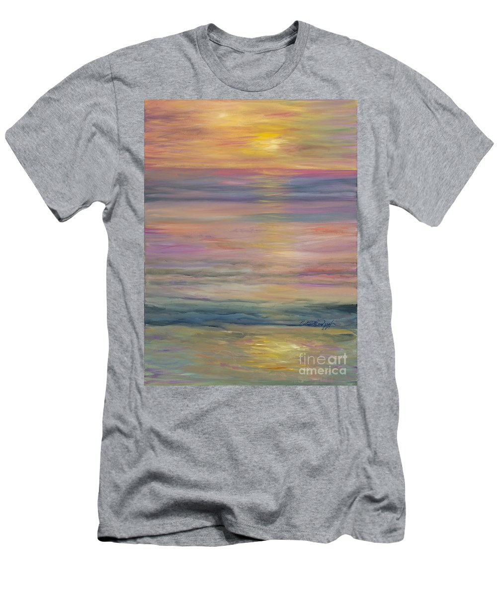 Sea Men's T-Shirt (Athletic Fit) featuring the painting Seascape by Nadine Rippelmeyer