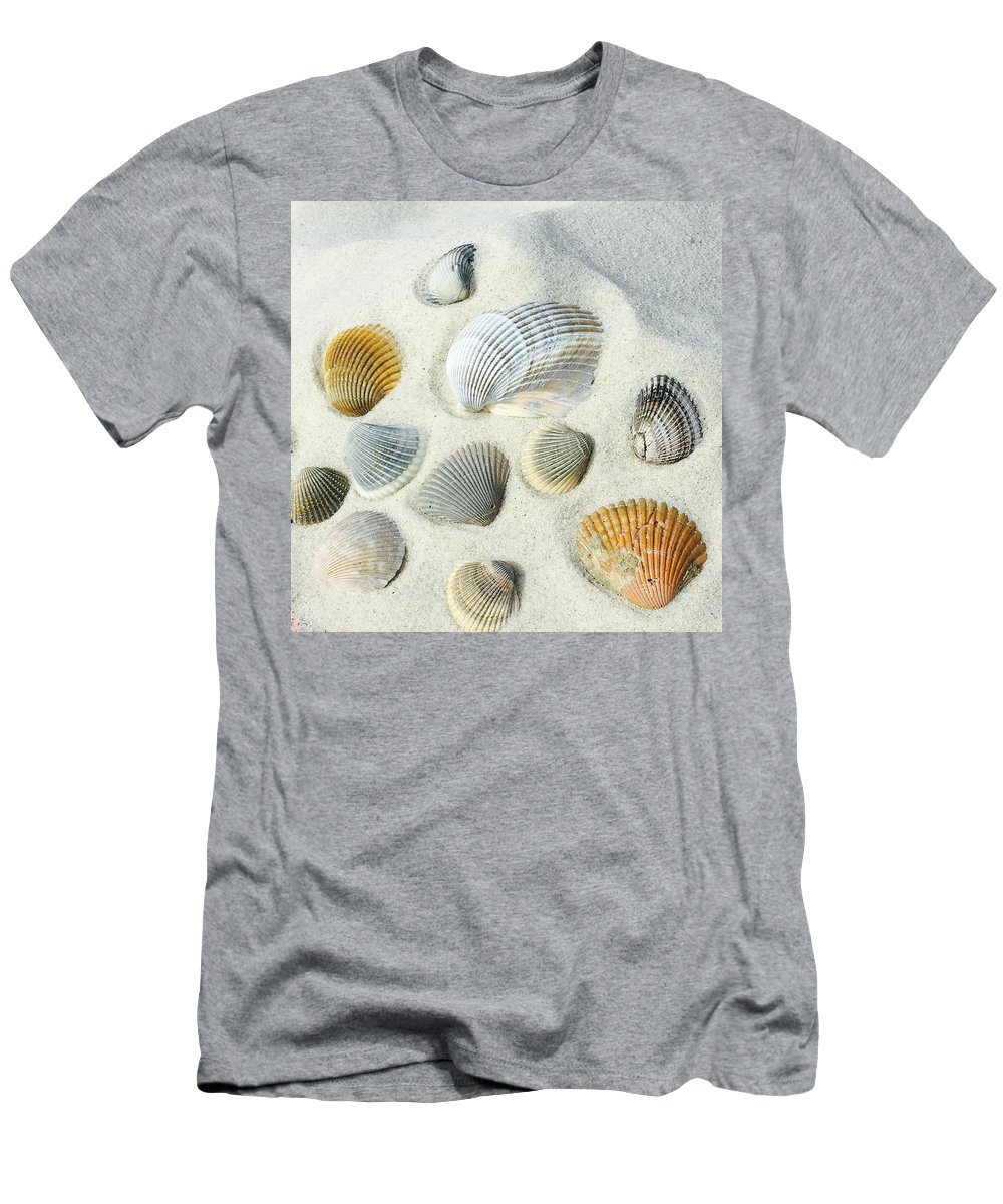 Nature Men's T-Shirt (Athletic Fit) featuring the photograph Seashells by Amber Skinner