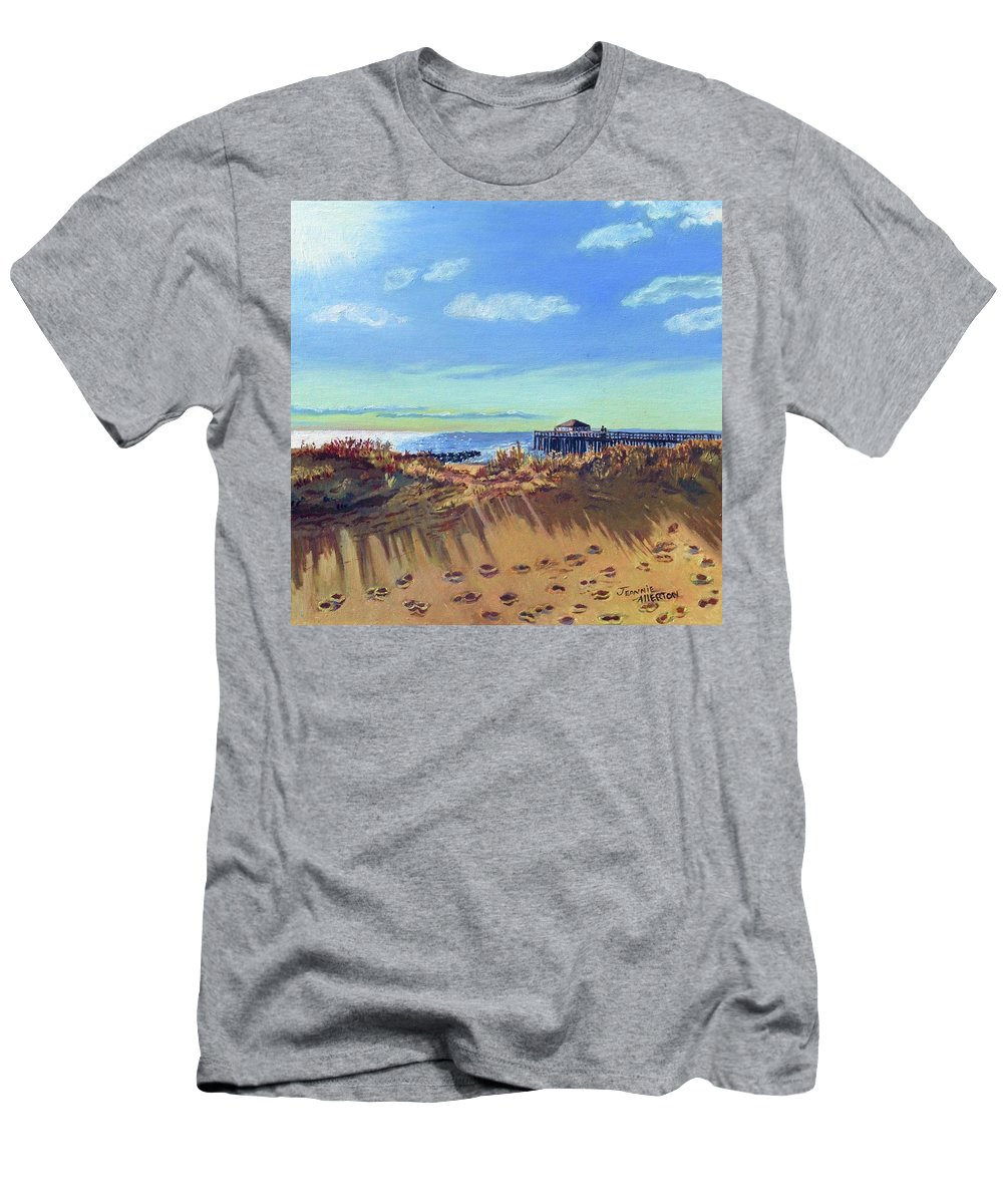 Beach Men's T-Shirt (Athletic Fit) featuring the painting Seashore Shadows by Jeanne Allerton