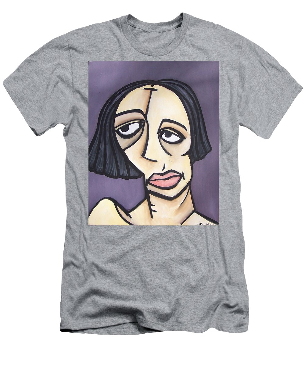Nude Men's T-Shirt (Athletic Fit) featuring the painting Second Vanessa by Thomas Valentine