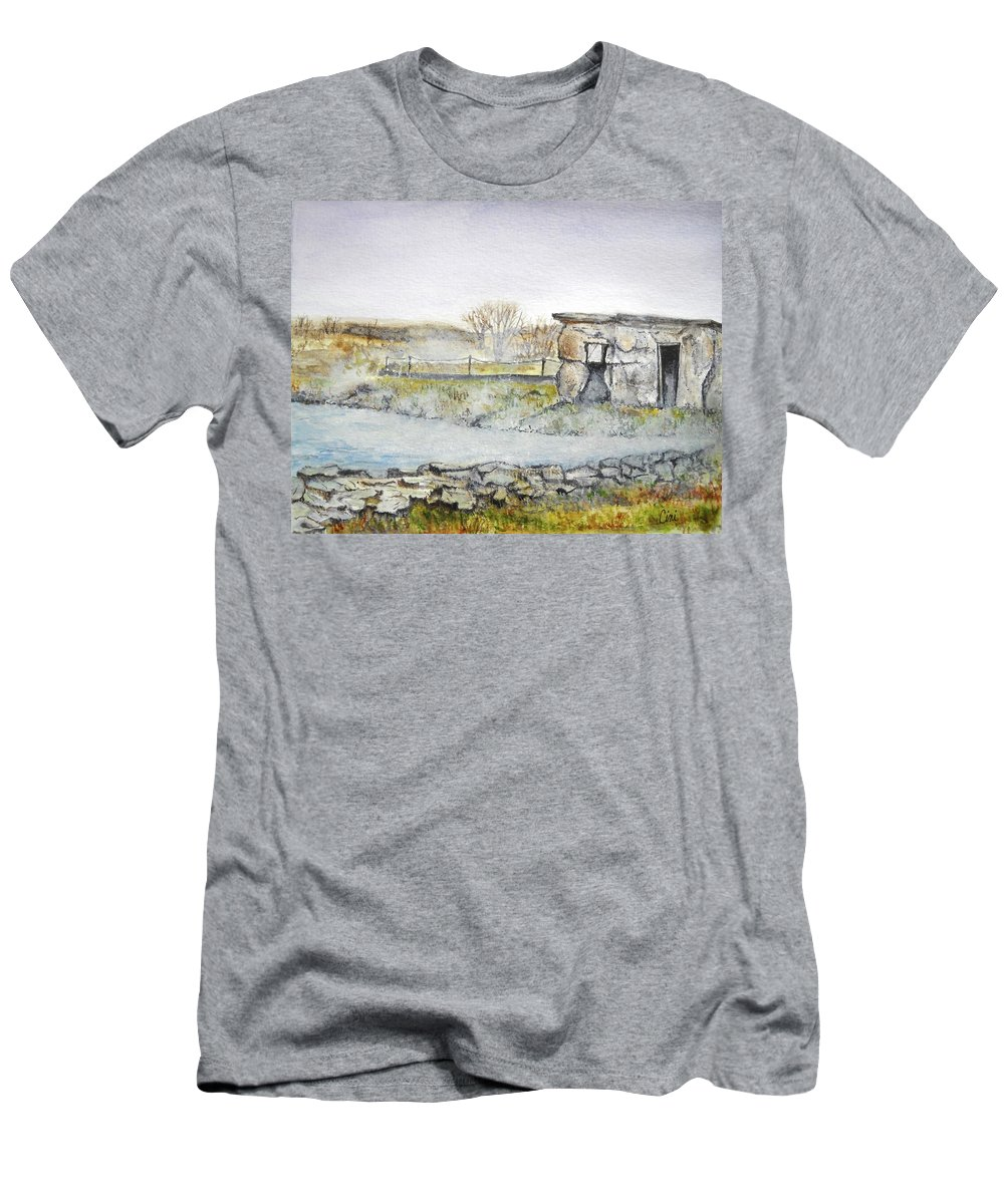Peaceful T-Shirt featuring the painting Secret Lagoon by Lisa Cini
