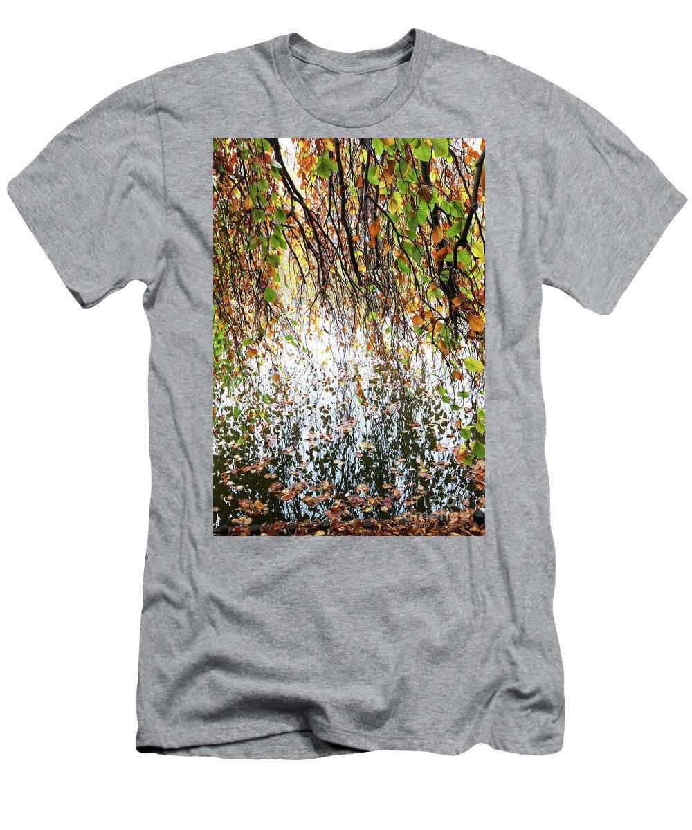 Fall Men's T-Shirt (Athletic Fit) featuring the photograph Secret Passage by Monika A Leon