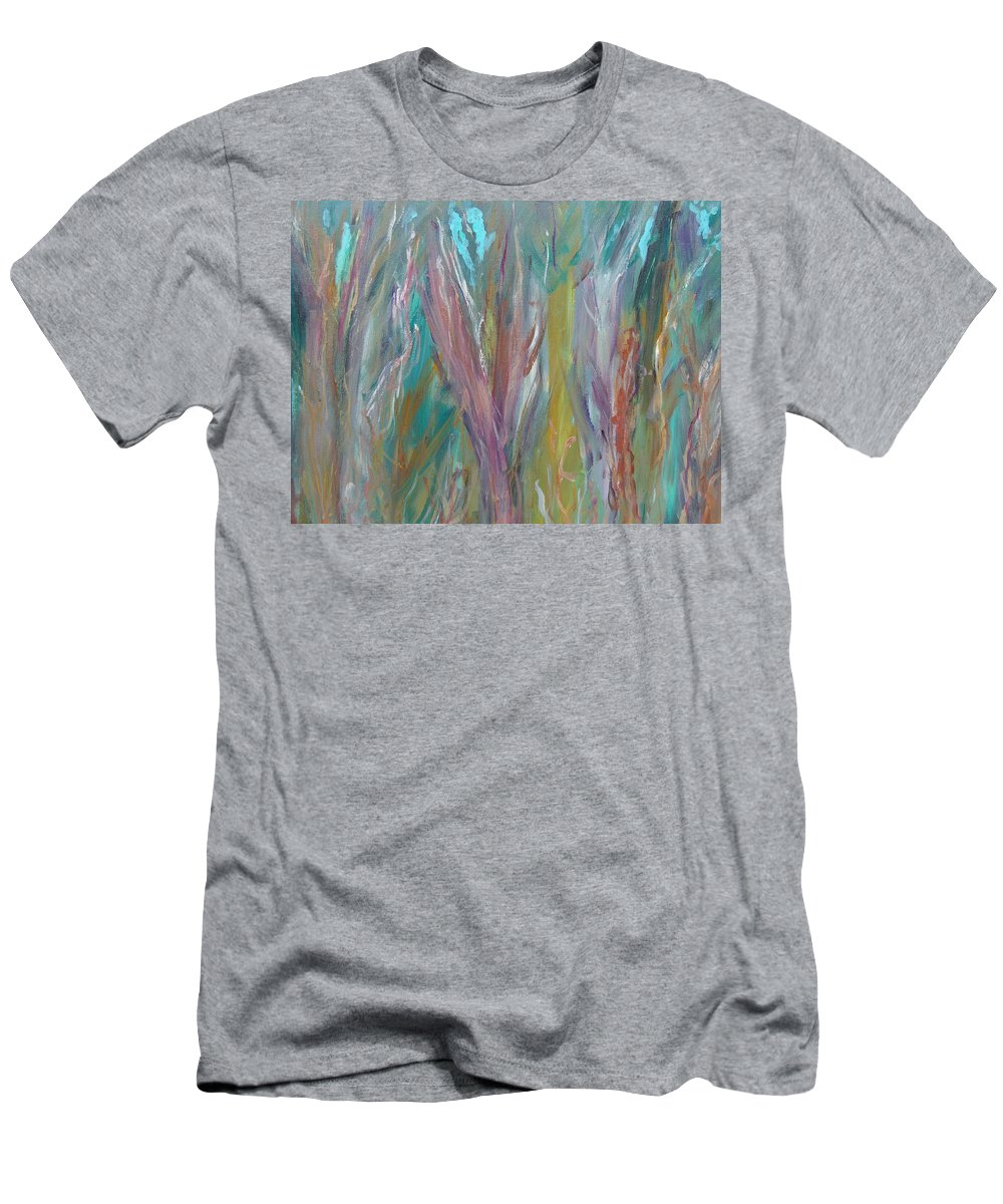Forest Men's T-Shirt (Athletic Fit) featuring the painting See The Woods For The Trees by Max Bowermeister