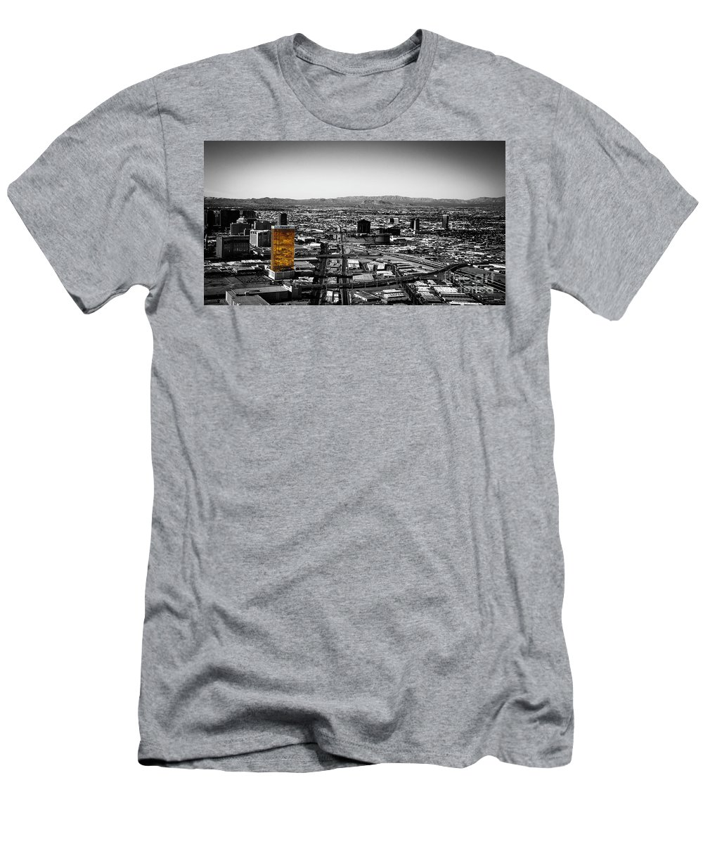Selective Men's T-Shirt (Athletic Fit) featuring the photograph Selective Color Trump Hotel by Lisa Top