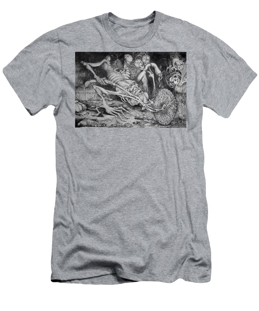 Surrealism T-Shirt featuring the drawing Selfpropelled Beastie Seeder by Otto Rapp