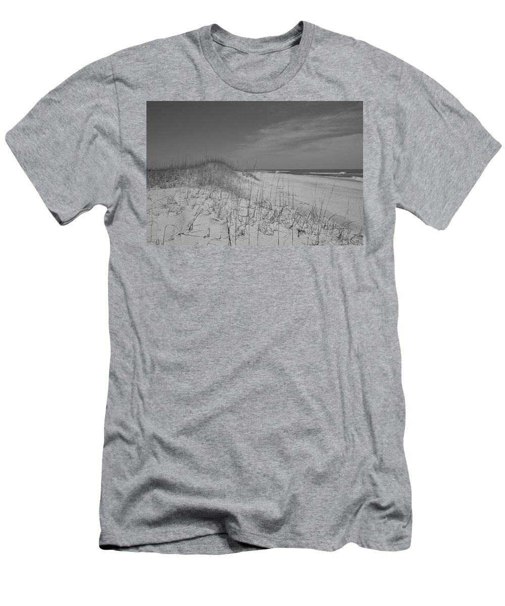 Beach Men's T-Shirt (Athletic Fit) featuring the photograph Serene Lookout by Betsy Knapp