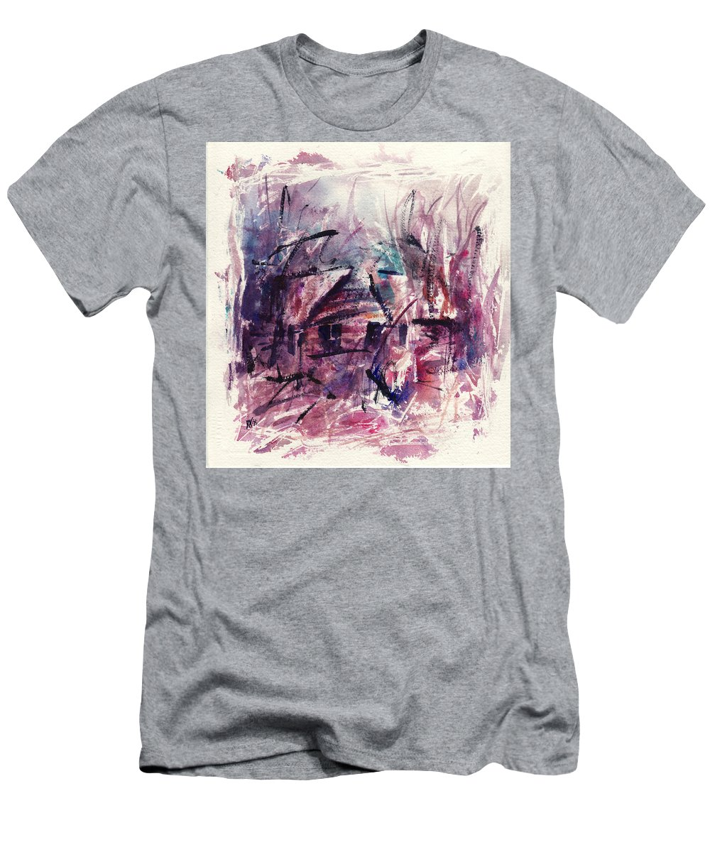 Shack Men's T-Shirt (Athletic Fit) featuring the painting Shack First Movement by Rachel Christine Nowicki