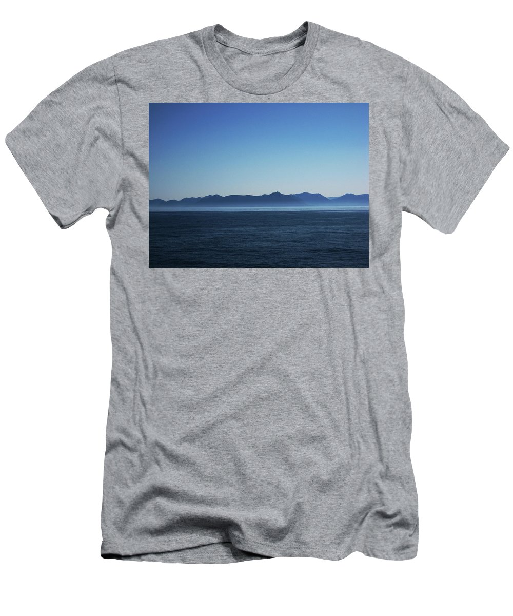 Waterscape Men's T-Shirt (Athletic Fit) featuring the photograph Shades Of Blue by Lori Tambakis