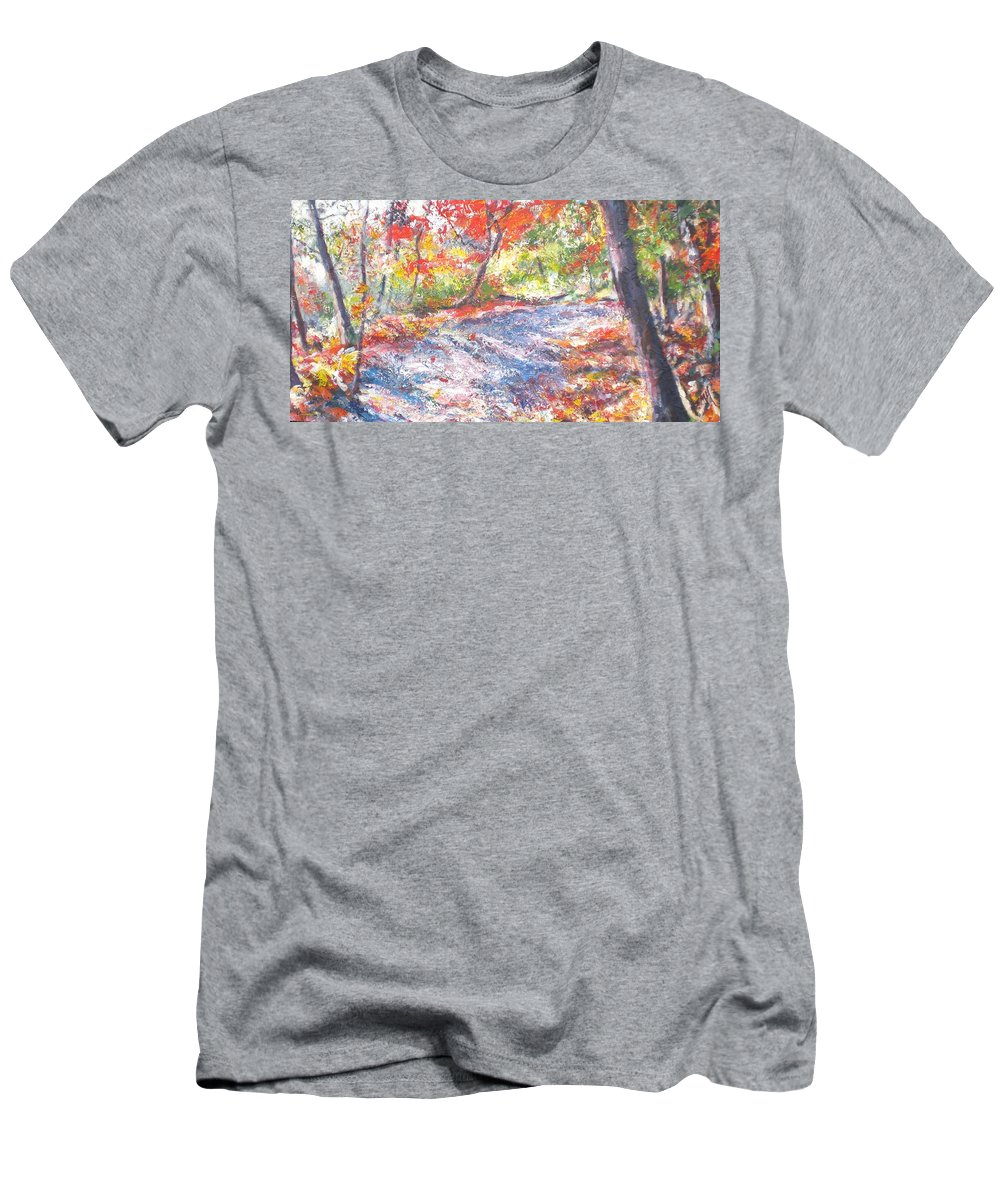 Landscape Men's T-Shirt (Athletic Fit) featuring the painting Shadowplay by Sheila Holland
