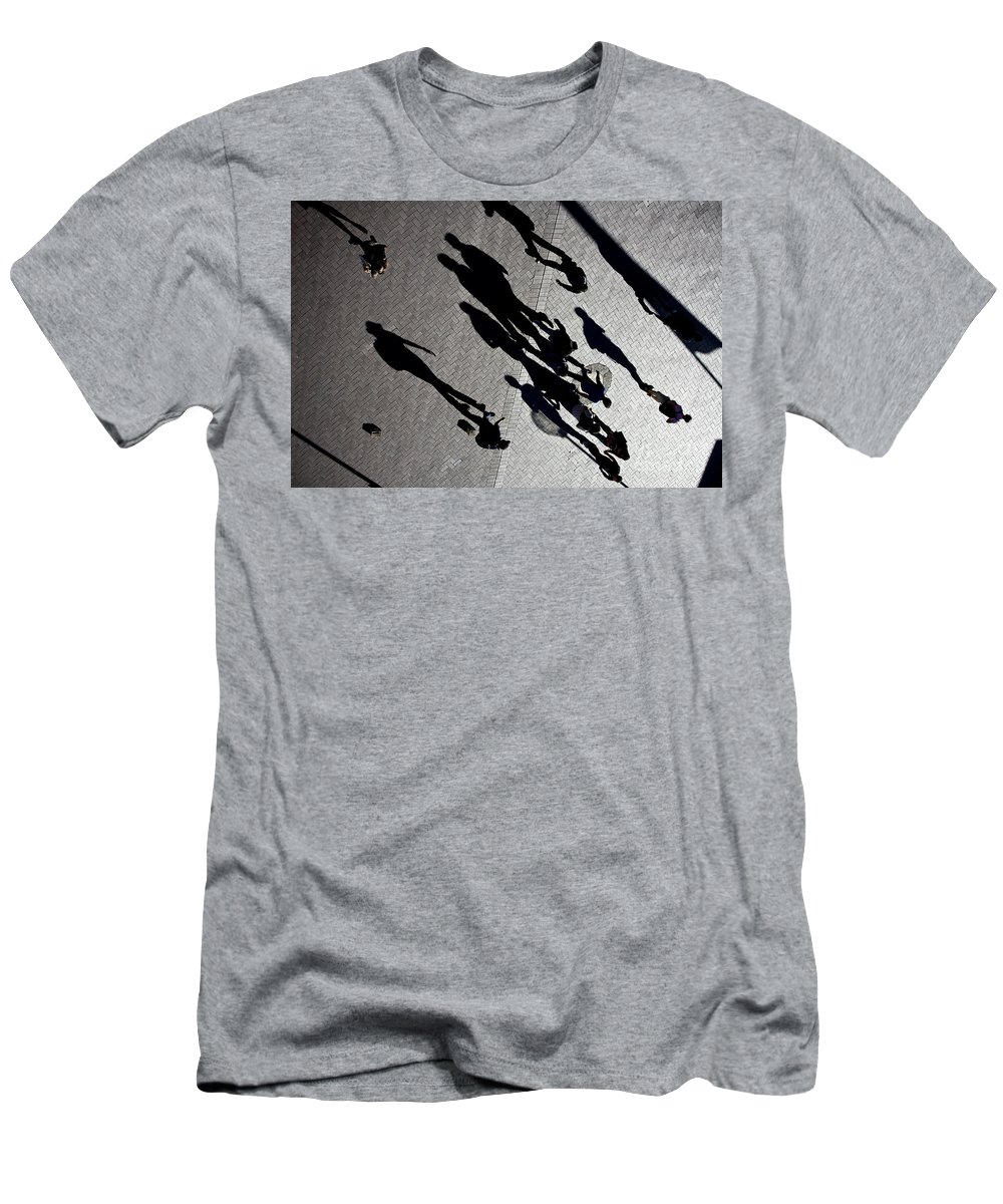 Shadows People Abstract Men's T-Shirt (Athletic Fit) featuring the photograph Shadows by Sheila Smart Fine Art Photography