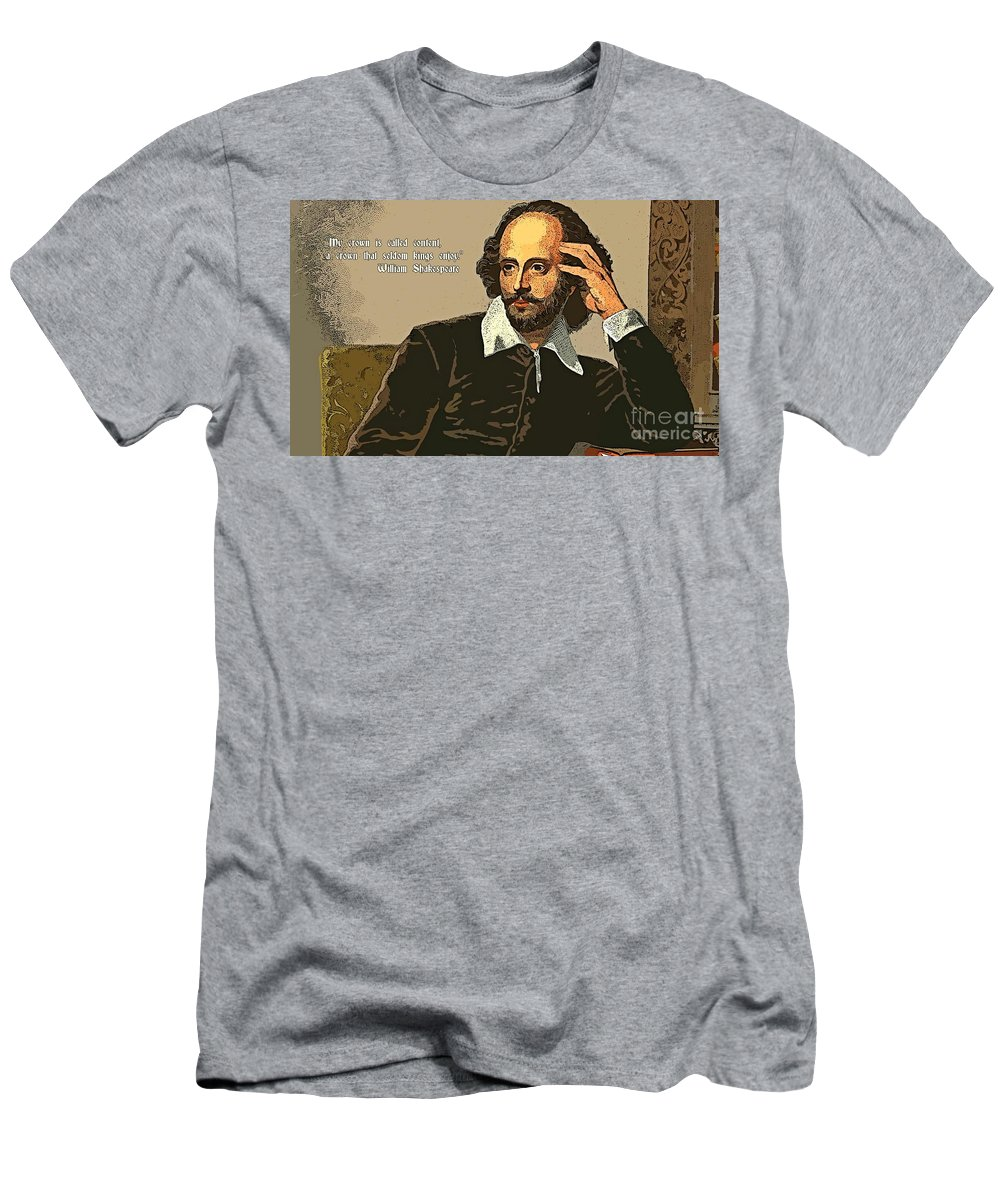 Shakespeare Quote Ten Men's T-Shirt (Athletic Fit) featuring the photograph Shakespeare Quote Ten by John Malone
