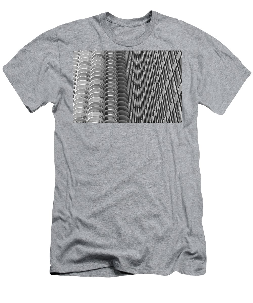 Marina Towers Men's T-Shirt (Athletic Fit) featuring the photograph Shapes by Lauri Novak