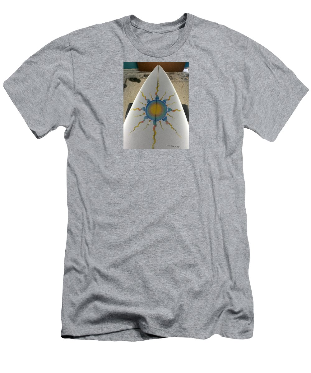 Sunshine Men's T-Shirt (Athletic Fit) featuring the photograph Shaping And Painting by Paul Carter