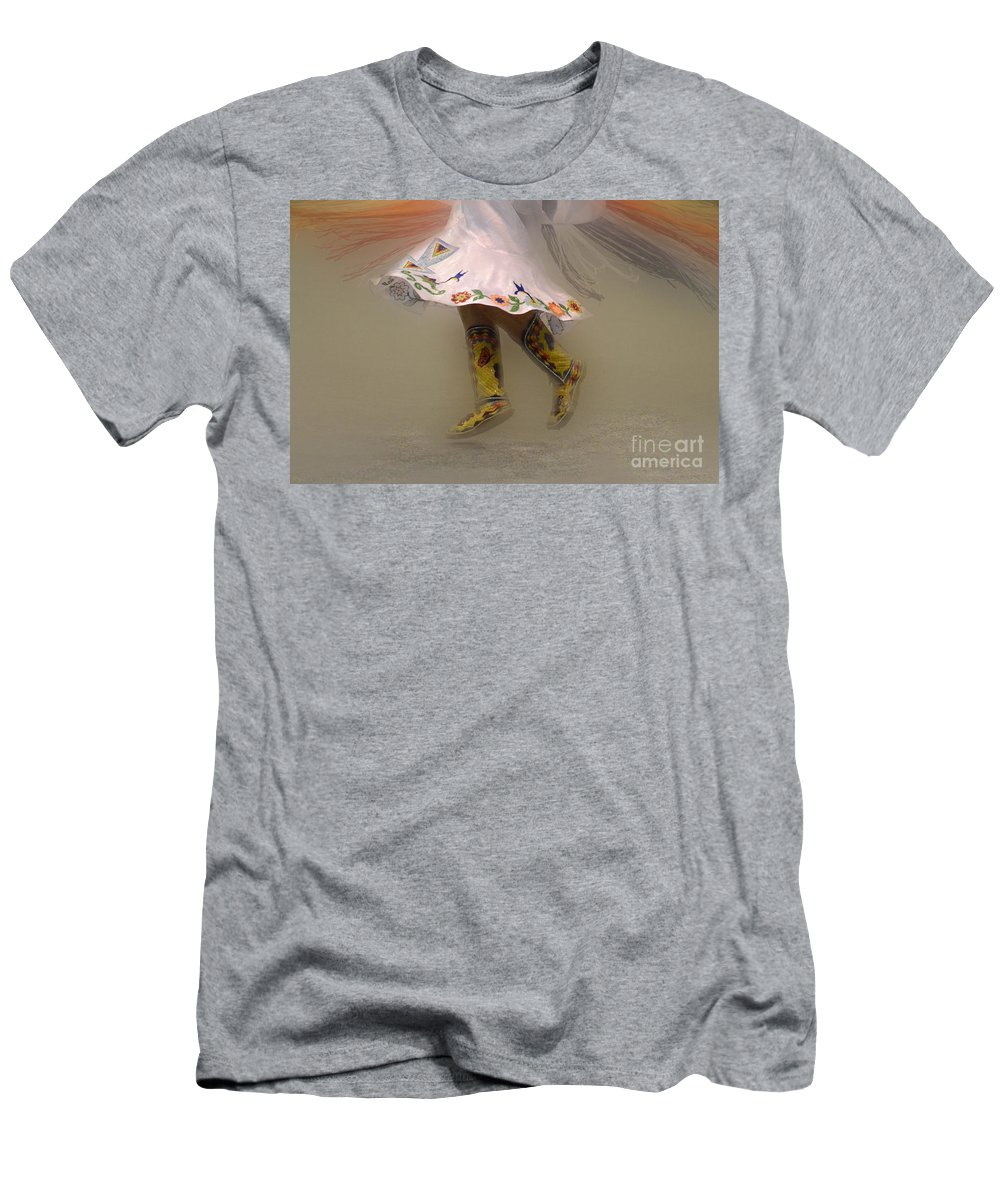Pow Wow Men's T-Shirt (Athletic Fit) featuring the photograph Pow Wow Shawl Dancer 8 by Bob Christopher