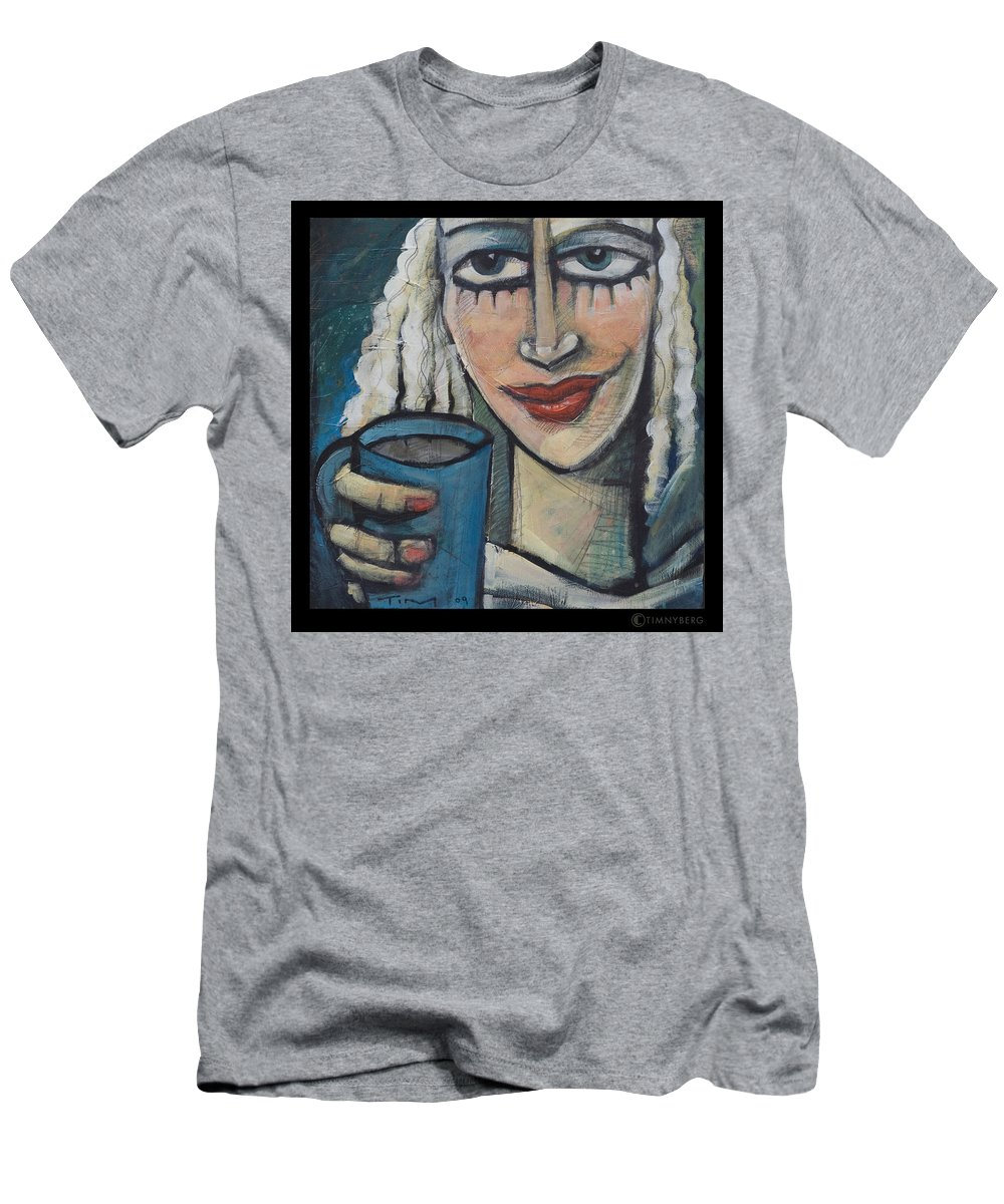 Pleasant Men's T-Shirt (Athletic Fit) featuring the painting She Had Some Dreams... by Tim Nyberg
