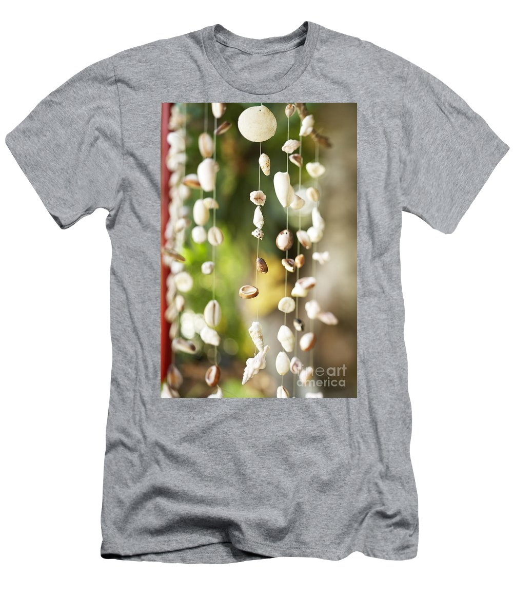 Art Men's T-Shirt (Athletic Fit) featuring the photograph Shell Windchimes by Kyle Rothenborg - Printscapes