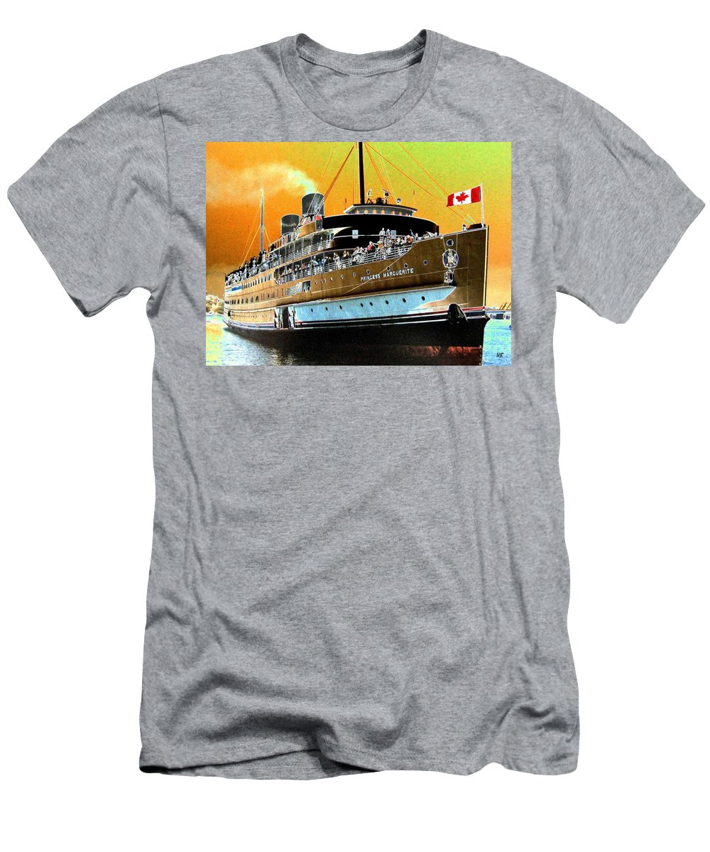 Princess Marguerite Men's T-Shirt (Athletic Fit) featuring the digital art Shipshape 6 by Will Borden