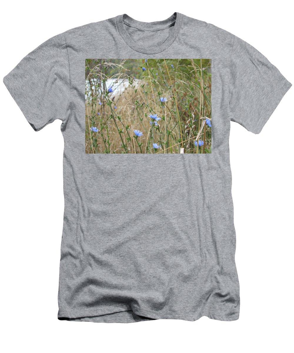 Flower Men's T-Shirt (Athletic Fit) featuring the photograph Shore Flowers by Kelly Mezzapelle