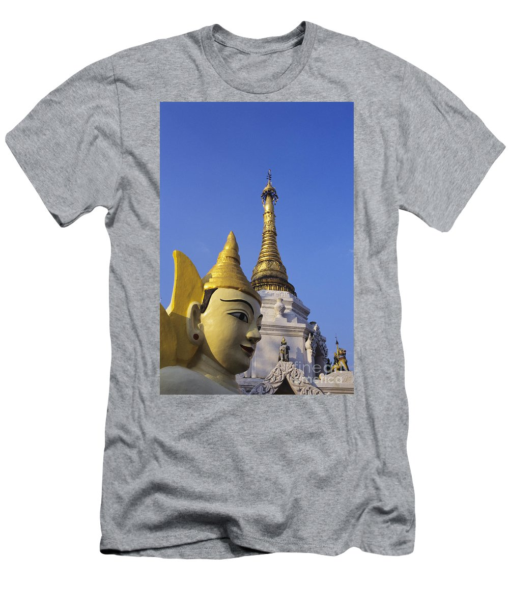 Afternoon Men's T-Shirt (Athletic Fit) featuring the photograph Shwedagon Paya by Gloria & Richard Maschmeyer - Printscapes