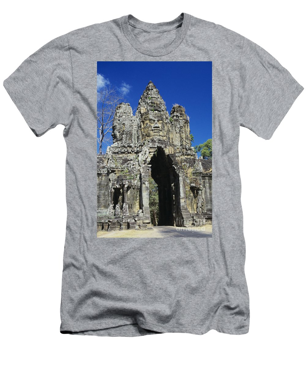 Amaze Men's T-Shirt (Athletic Fit) featuring the photograph Siem Reap, Angkor Thom by Gloria & Richard Maschmeyer - Printscapes