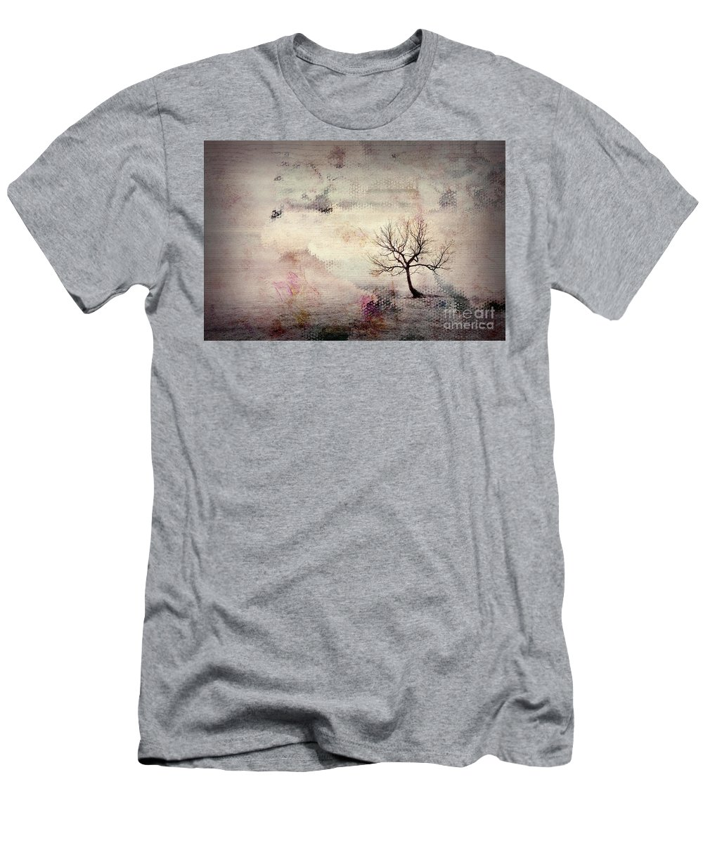 Tree Men's T-Shirt (Athletic Fit) featuring the digital art Silence To Chaos - 5502c2v by Variance Collections