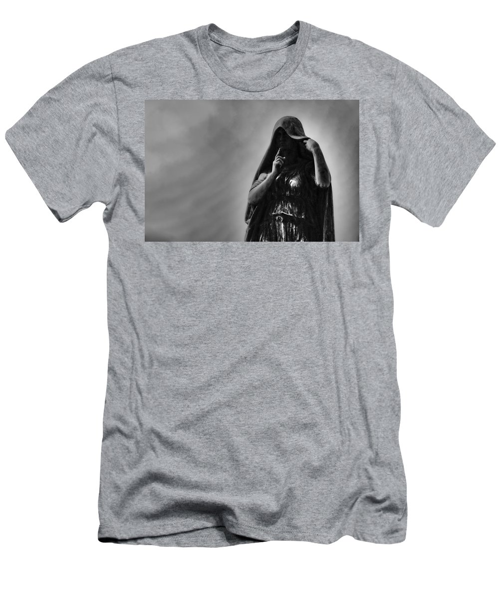 Cemetery Men's T-Shirt (Athletic Fit) featuring the photograph Silent Angel by David Arment
