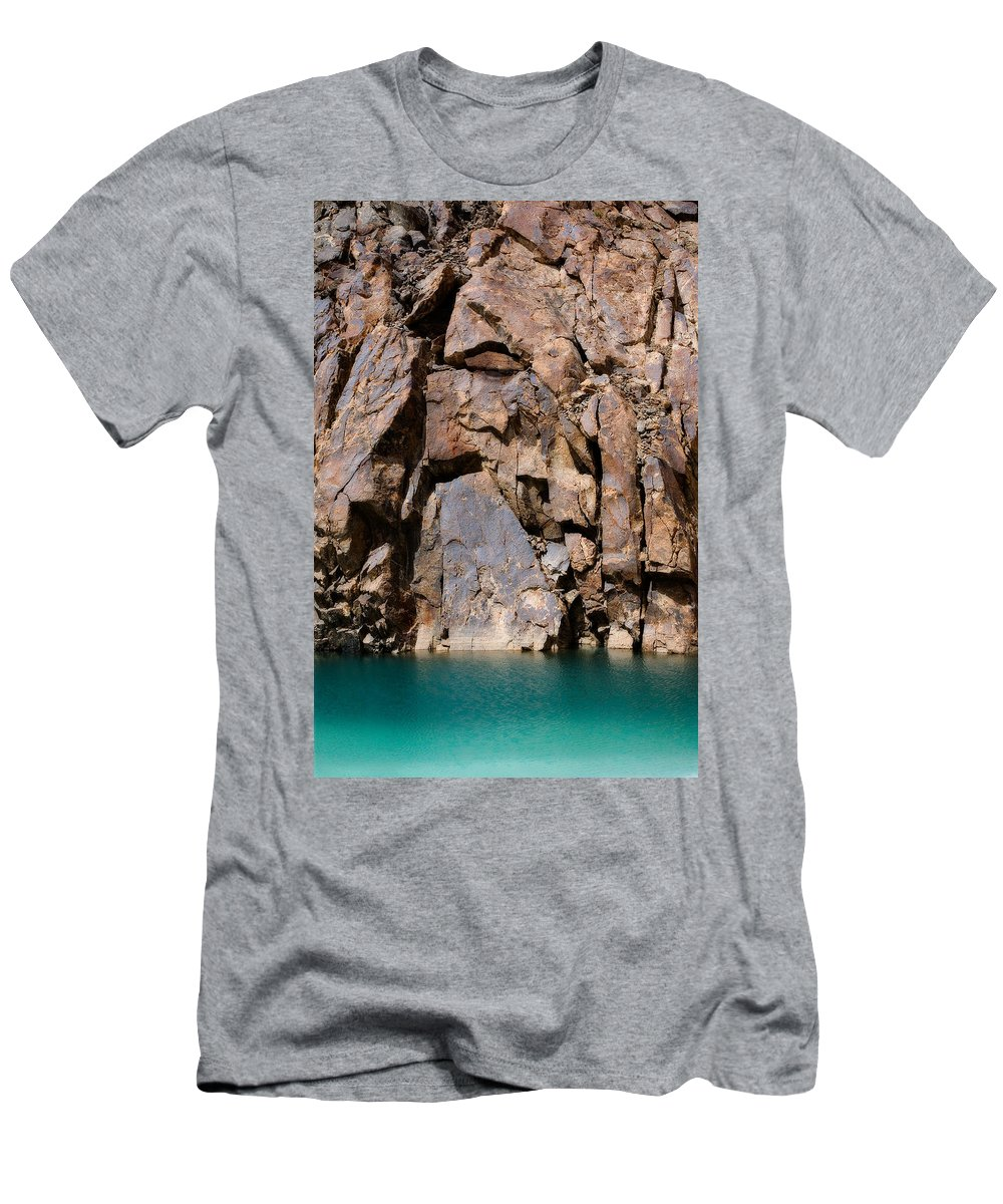 Abstract Men's T-Shirt (Athletic Fit) featuring the photograph Silent Rocks by Konstantin Dikovsky