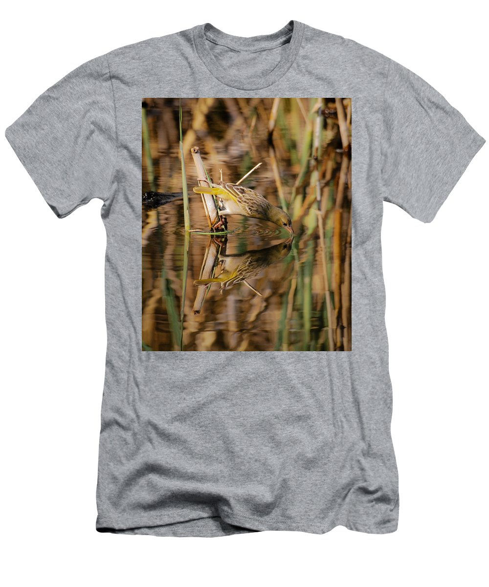Bird Men's T-Shirt (Athletic Fit) featuring the photograph Silhouette  by Mari van Bosch