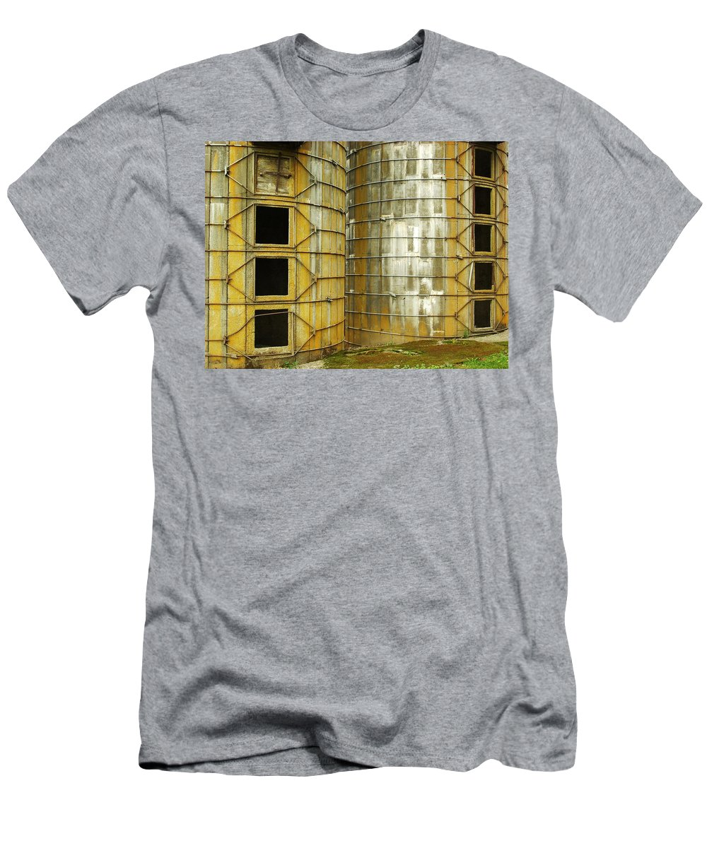 Silo Men's T-Shirt (Athletic Fit) featuring the photograph Silo 3 by Sara Stevenson