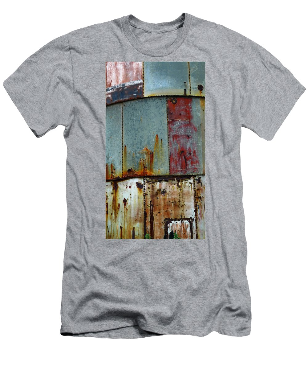 Skip Hunt Men's T-Shirt (Athletic Fit) featuring the photograph Silo Series 1 by Skip Hunt
