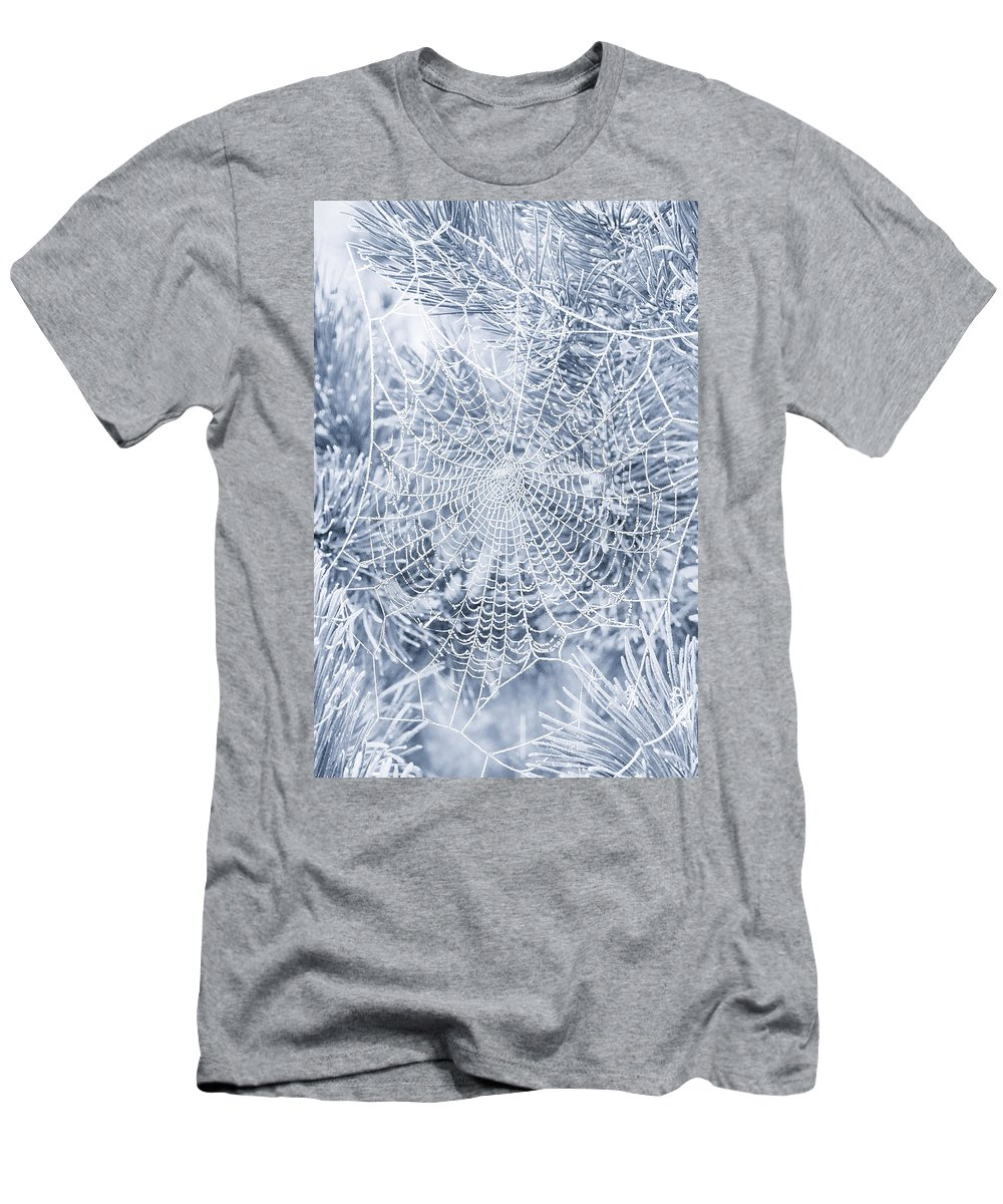 Web Men's T-Shirt (Athletic Fit) featuring the photograph Silver Filigree by Iryna Goodall