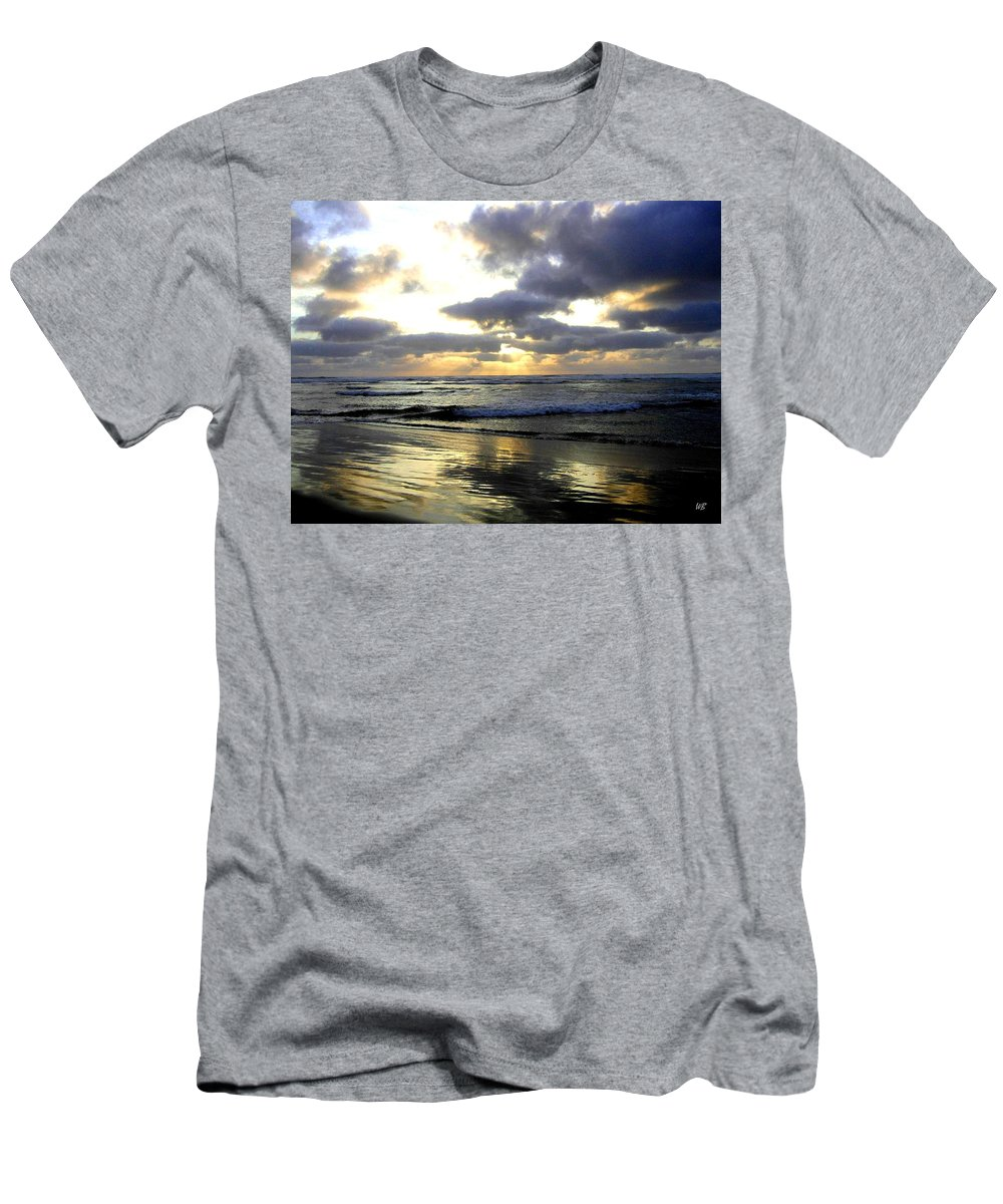 Sunset Men's T-Shirt (Athletic Fit) featuring the photograph Silver Shores by Will Borden