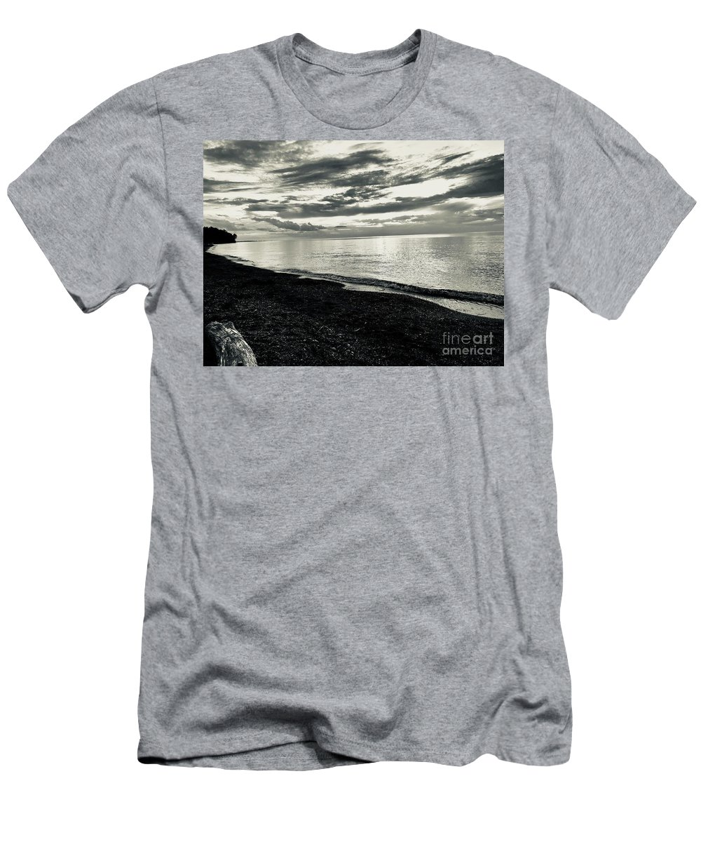 Silver Sunset Men's T-Shirt (Athletic Fit) featuring the photograph Silver Sunset by Michael Krek