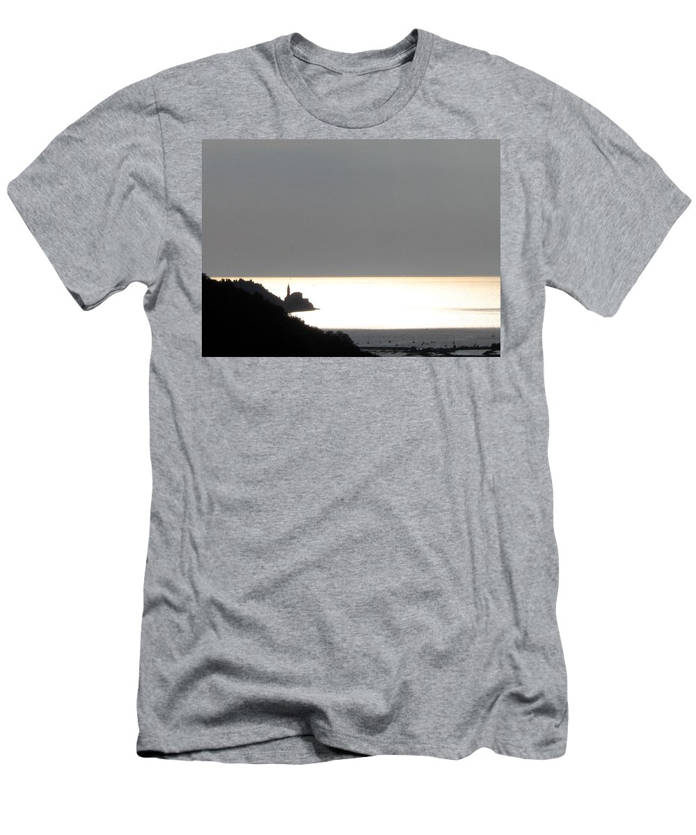 Sunset Men's T-Shirt (Athletic Fit) featuring the photograph Silvery by Dragica Micki Fortuna