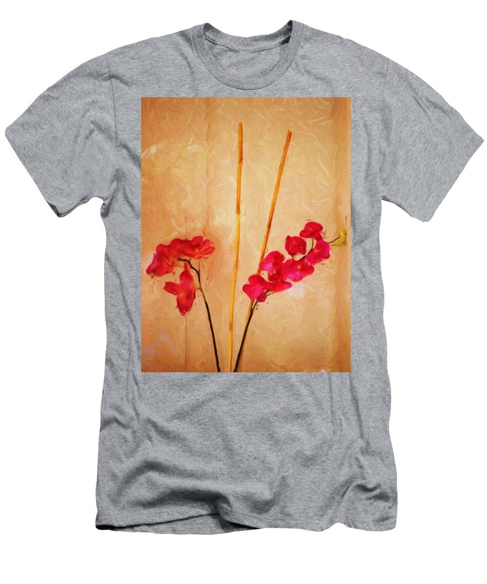 Fine Art Men's T-Shirt (Athletic Fit) featuring the digital art Simple Floral Arrangement by David Lane