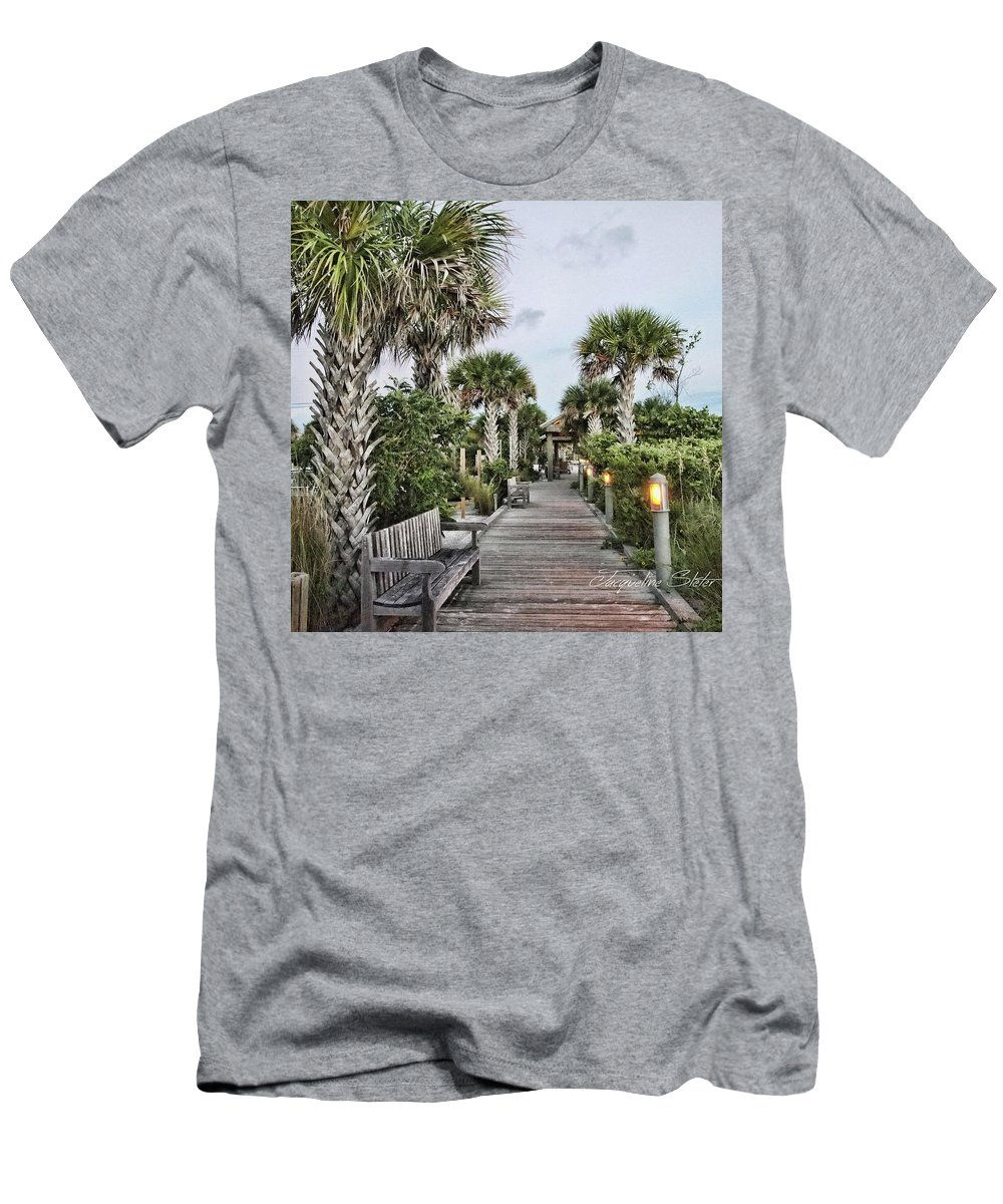 Beach Men's T-Shirt (Athletic Fit) featuring the digital art Sit N Relax by Jacqueline Sleter