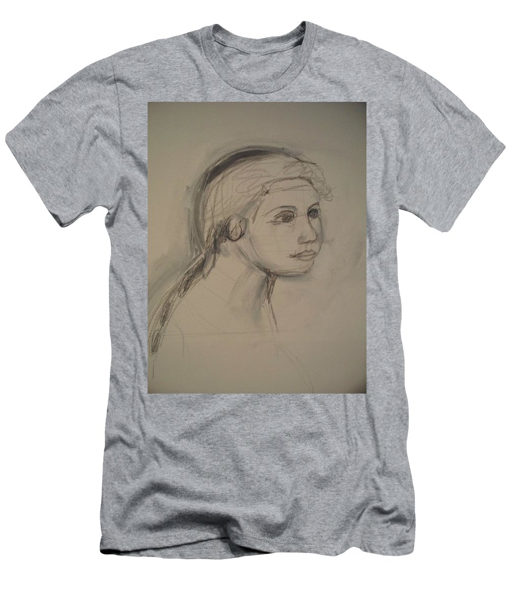 Sketch Men's T-Shirt (Athletic Fit) featuring the painting Sketch For Painting by Eric Schiabor
