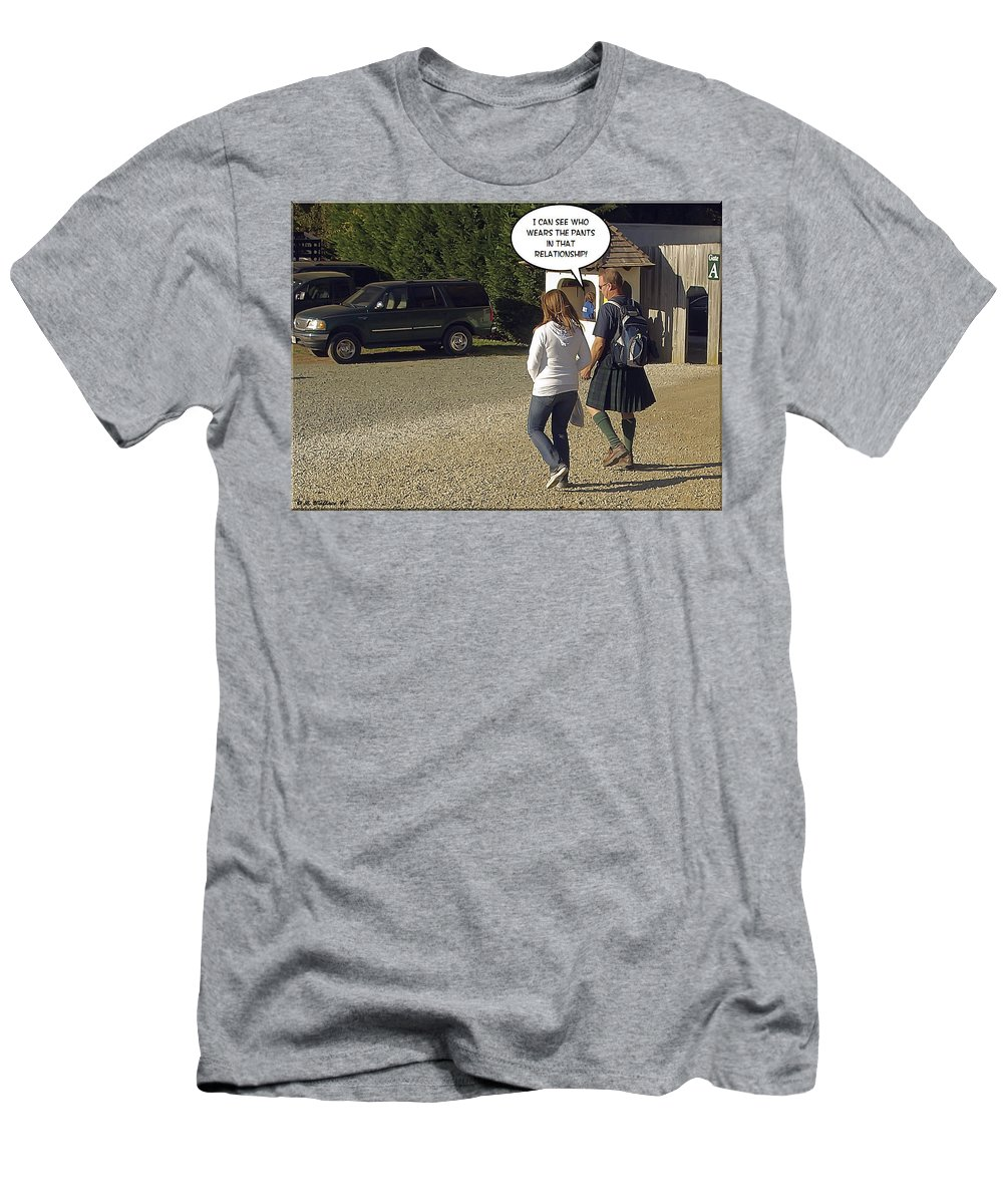 2d Men's T-Shirt (Athletic Fit) featuring the photograph Skirting Around The Issue by Brian Wallace