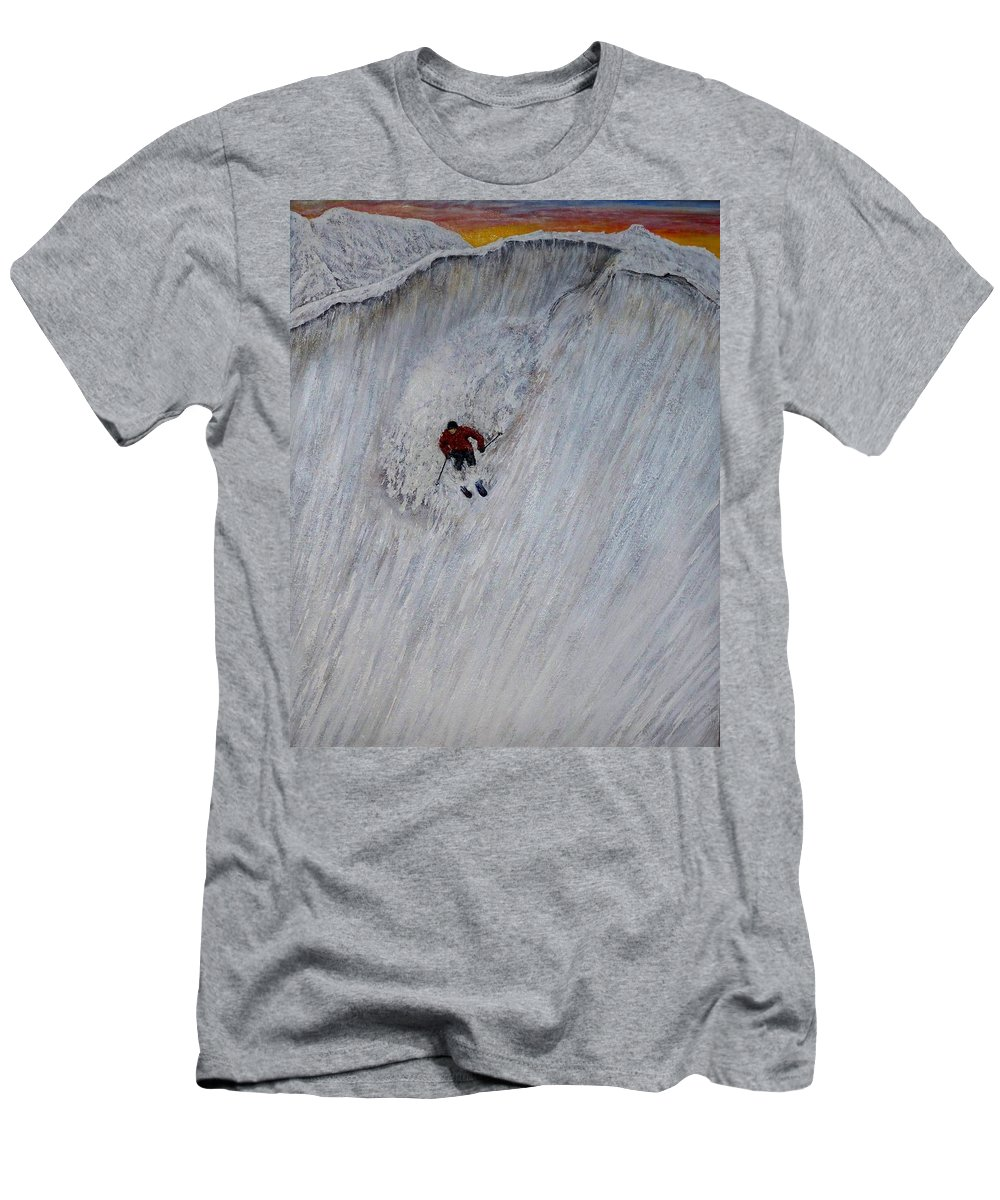 Landscape Men's T-Shirt (Athletic Fit) featuring the painting Skitilthend by Michael Cuozzo