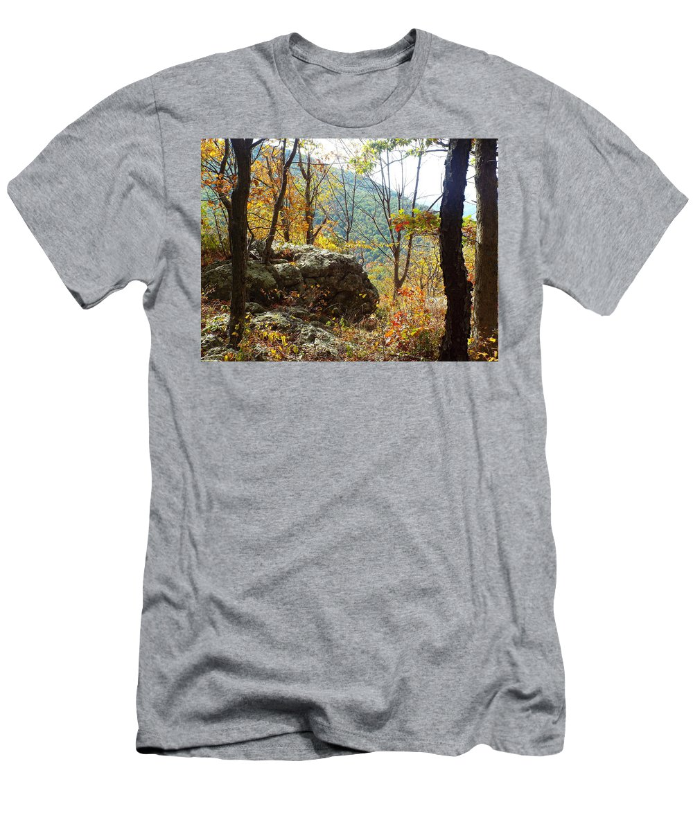 Fall Men's T-Shirt (Athletic Fit) featuring the photograph Skyline Drive - 3 by Gilbert Pennison