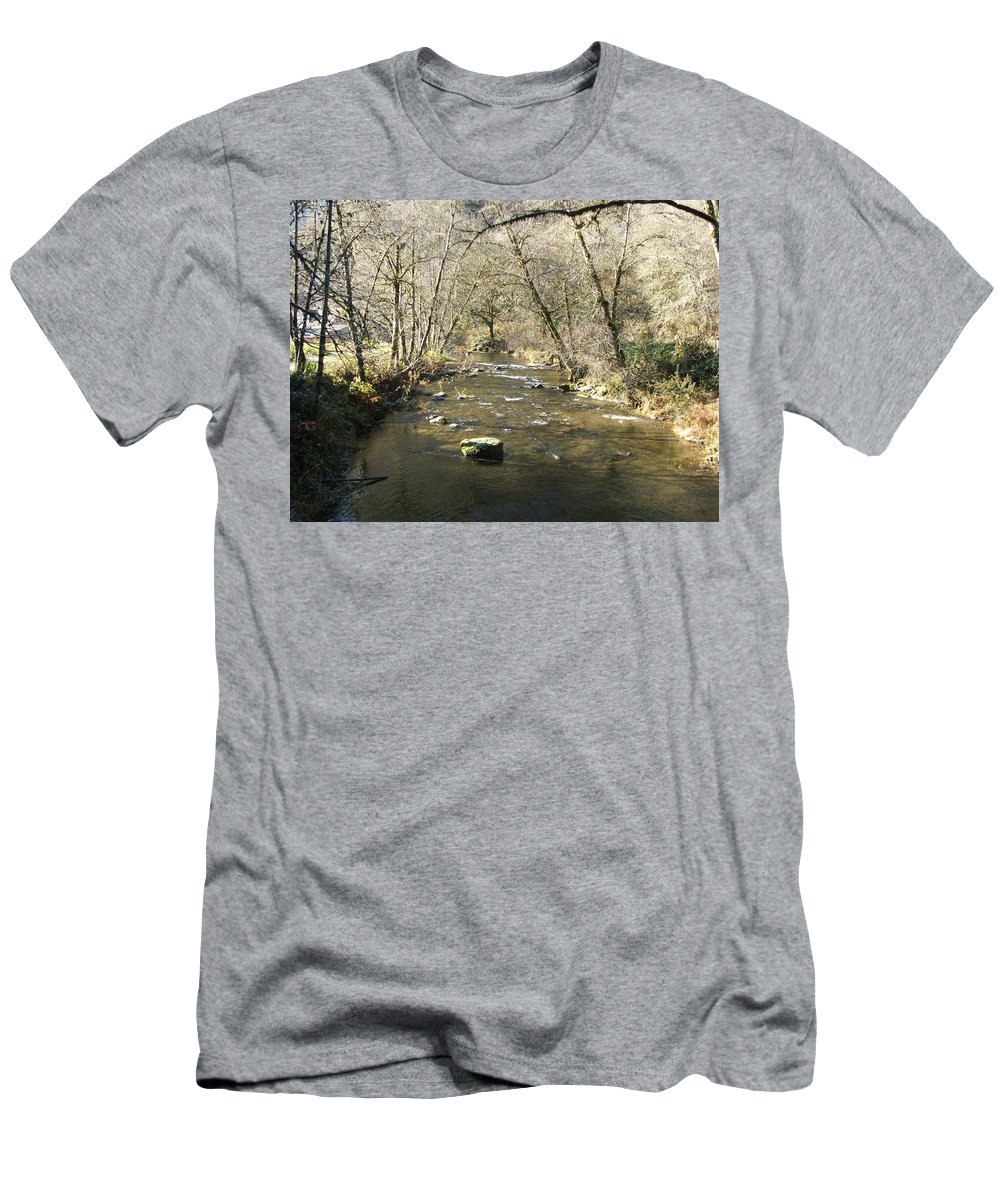 River Men's T-Shirt (Athletic Fit) featuring the photograph Sleepy Creek by Shari Chavira