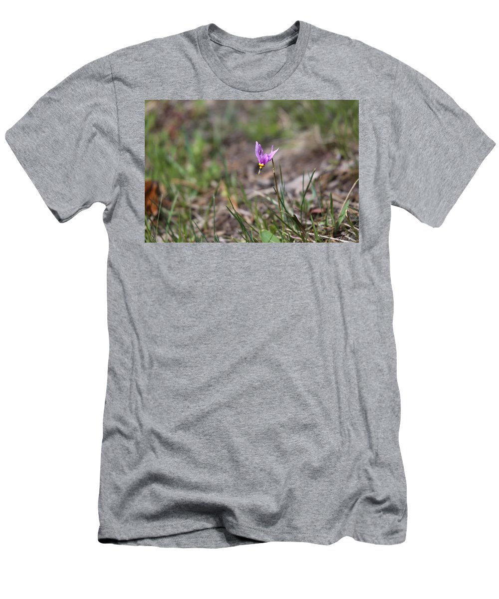 #dodecatheonconjugens Men's T-Shirt (Athletic Fit) featuring the photograph Slimpod Shooting Star by Gemdelin Jackson