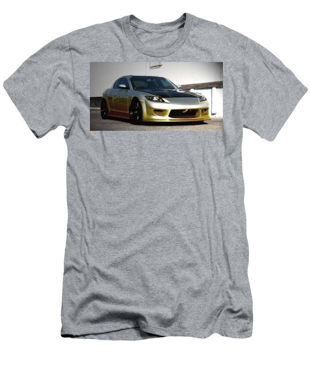 Smoking 8 Men's T-Shirt (Athletic Fit) featuring the photograph Smoking 8 by Chris Brannen