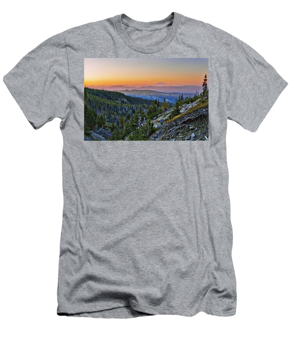 Smoke Men's T-Shirt (Athletic Fit) featuring the photograph Smoky Twilight by John Christopher