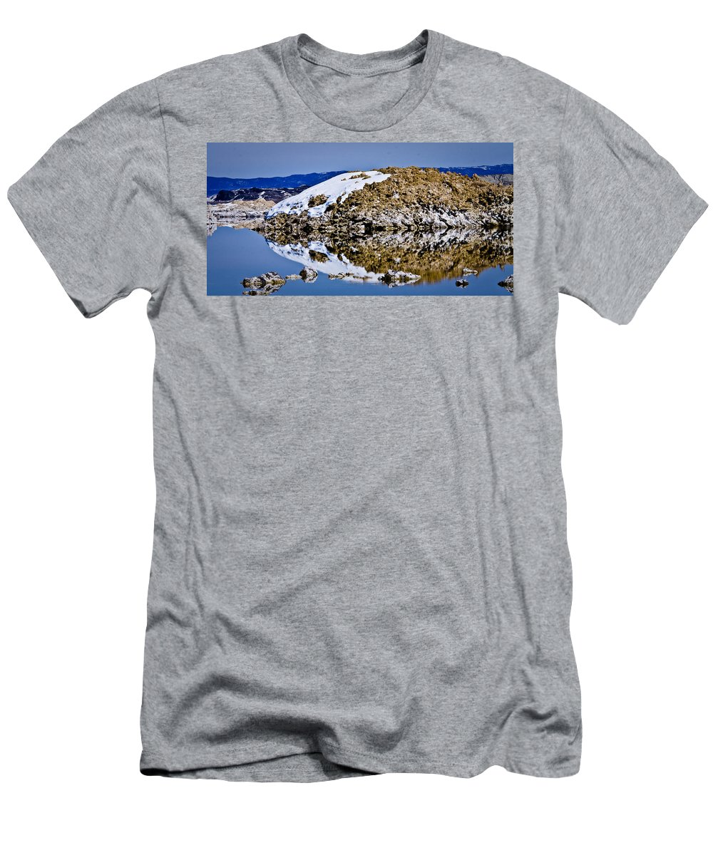 Tufa Men's T-Shirt (Athletic Fit) featuring the photograph Snake Head by Albert Seger