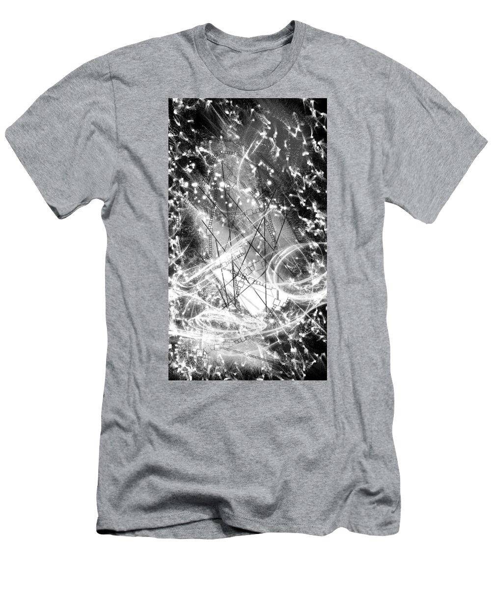 Snow City Men's T-Shirt (Athletic Fit) featuring the digital art Snow City by Shubham Kumar