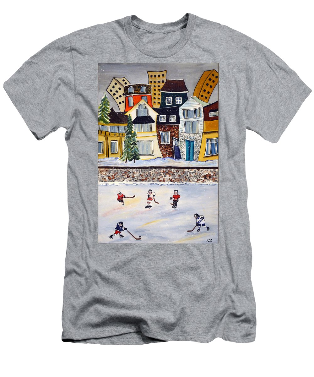 Acrylic Men's T-Shirt (Athletic Fit) featuring the painting Snow Day by Heather Lovat-Fraser